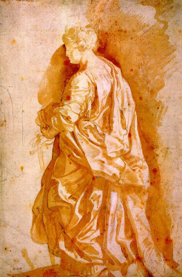 Peter Paul Rubens. Sketch for the statue of the Holy jensine