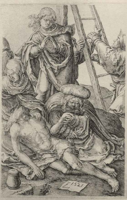 Lucas van Leiden (Luke of Leiden). The descent from the cross