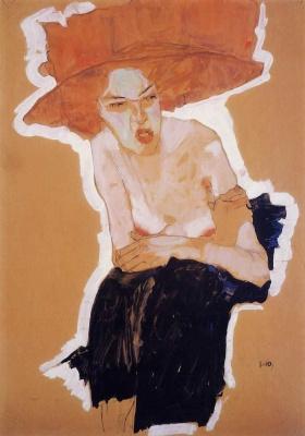 Egon Schiele. Redheaded woman