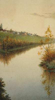 Ричард Александрович Берггольц. Пейзаж с рекой