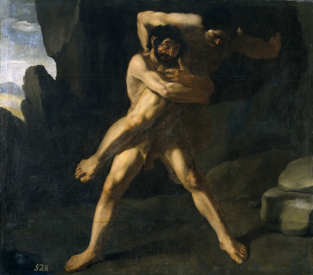 Francisco de Zurbaran. The struggle of Hercules with Antaeus
