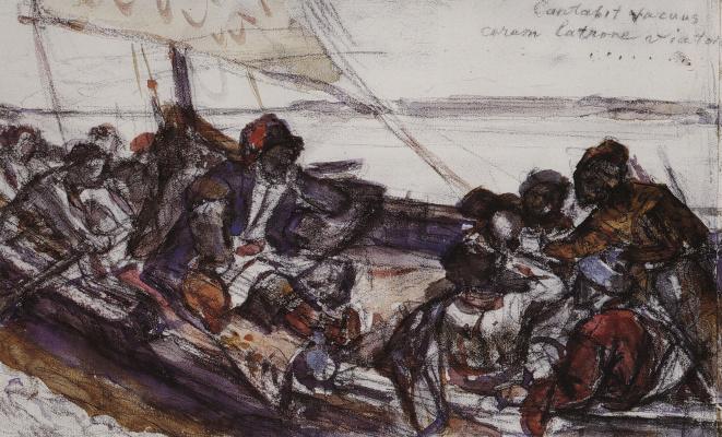 Vasily Ivanovich Surikov. Stepan Razin. Sketch