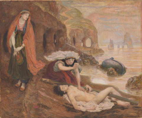 Ford Madox Brown. Haida finds don Giovanni (watercolor)