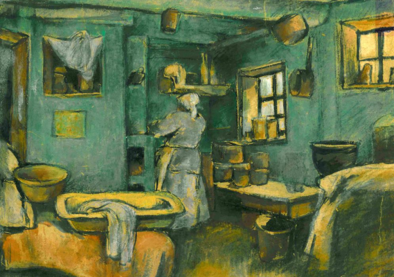 Amshey Markovic Nuremberg. In the kitchen.