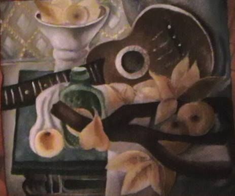 "Sophie Wasilewska. ""Натюрморт с гитарой"" А. В. Шевченко (копия)"
