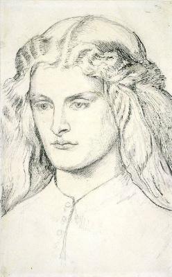 Dante Gabriel Rossetti. Portrait Of Annie Miller