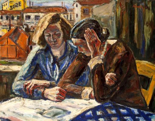 Альбин Амелин. Две женщины у окна