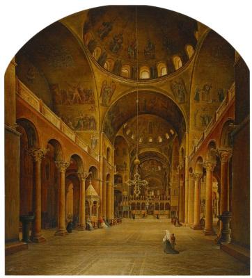 Никанор Григорьевич Чернецов. Внутренний вид собора Св. Марка в Венеции