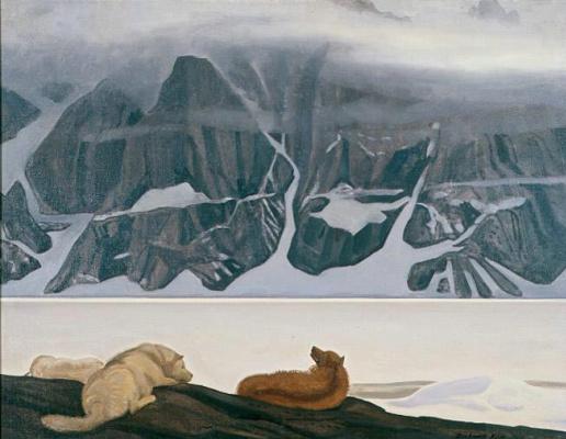 Rockwell Kent. Dogs in Kangerdluarssuk Fjord
