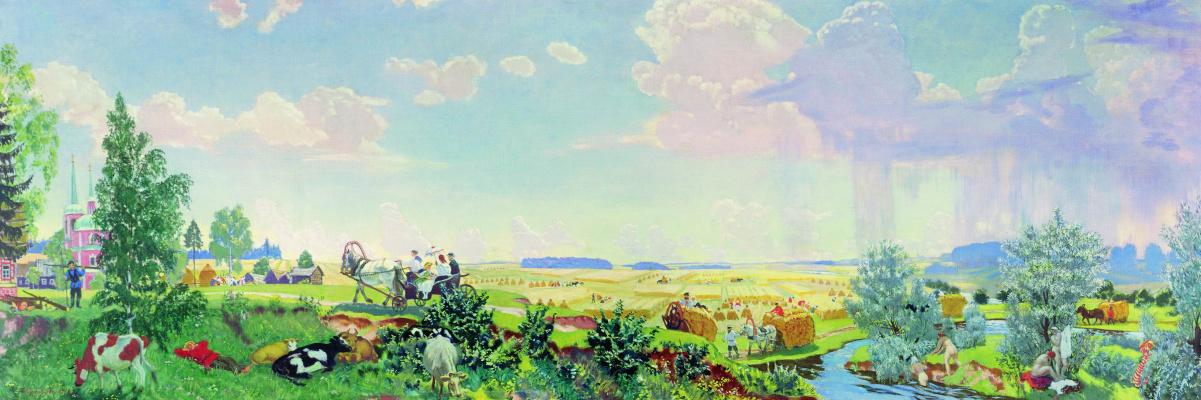 Boris Mikhailovich Kustodiev. Summer (a Trip to Terem)