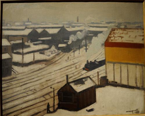 Albert Marquet. ... in the snow.