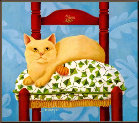 Диана Джексон. Кот на стуле