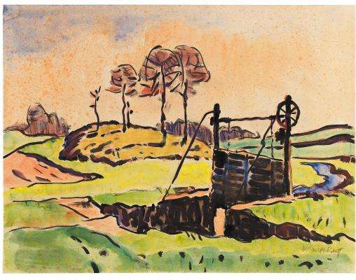 Karl Schmidt-Rottluff. Landscape with a brook