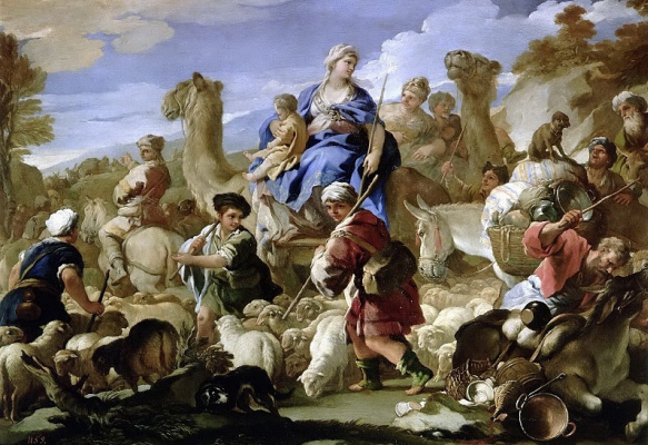 Luca Giordano. Journey of Jacob to Canaan