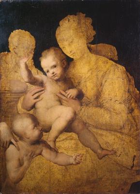 Перино дель Вага. Святое семейство со святым Иоанном Крестителем