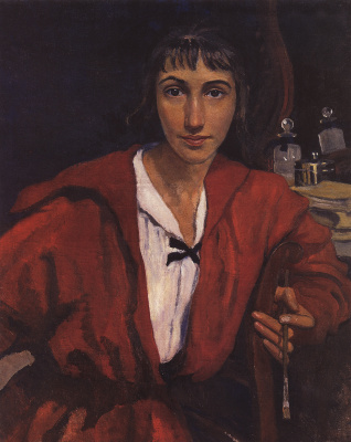 Zinaida Serebryakova. Self portrait in red