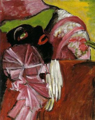 Габриель Мюнтер. Маска с розовым
