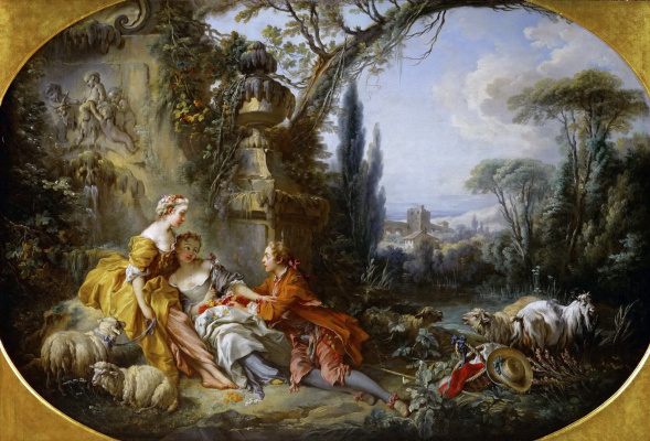 Francois Boucher. The delights of rural life