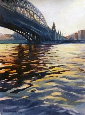Violetta Dudnikova. Novoandreevsky bridge, Moscow