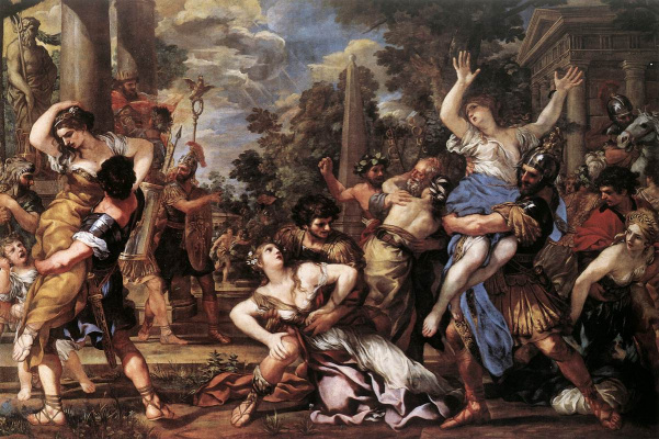 Pietro Da Cortona. The rape of the Sabine women