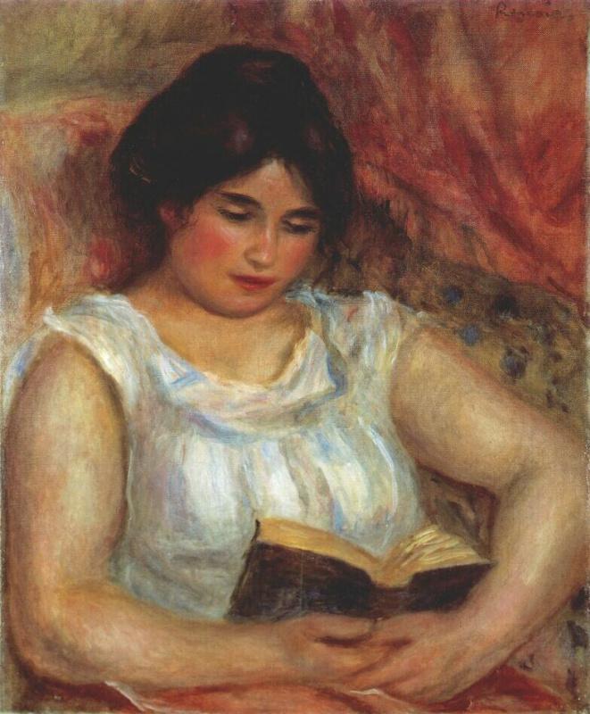 Pierre-Auguste Renoir. Reading Gabriel