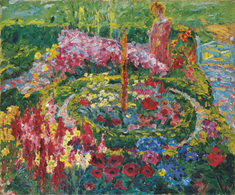 Emil Nolde. The woman in the garden