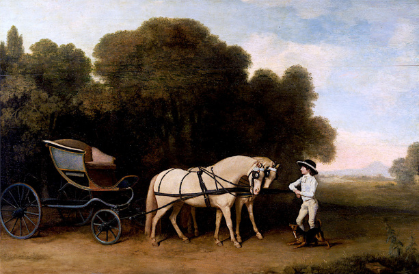 George Stubbs. Phaeton, drawn by two ponies