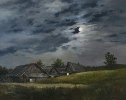 Сергей Владимирович Дорофеев. Moonlit night in the village