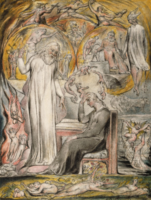 "William Blake. The Spirit Of Plato. Illustrations to the poems of Milton's ""Fun"" and ""Thoughtful"""