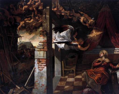 Jacopo (Robusti) Tintoretto. Annunciation