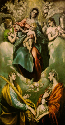 Domenico Theotokopoulos (El Greco). The Virgin And Child With St. Martina And St. Agnes