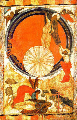 Icon Painting. The fiery ascent of prophet Elijah