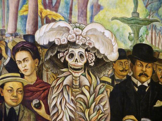 Диего Мария Ривера. Мечта о воскресном дне в парке Аламеда (деталь)
