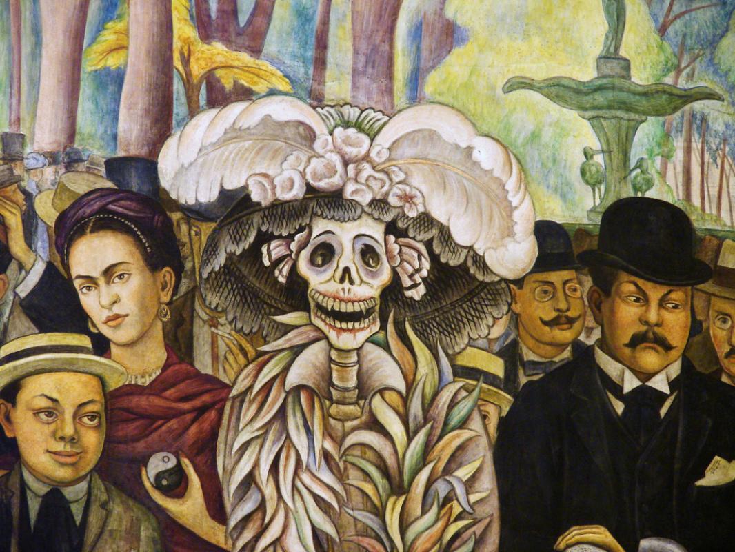 Диего Мария Ривера. Мечта в воскресенье днем в парке Аламеда (деталь)