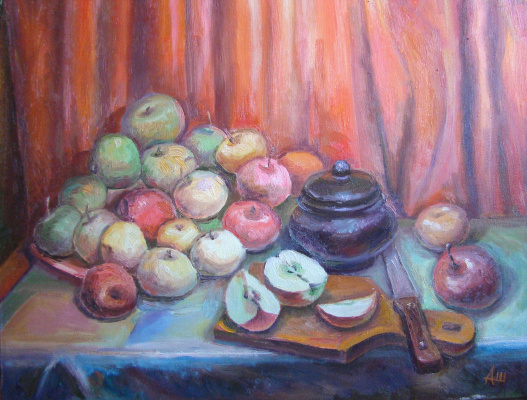 Alexander Shvetsov. Evening apples