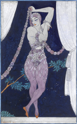 "Georges Barbier. Vaclav Nezhinsky in the ballet ""Ghost Rose"""