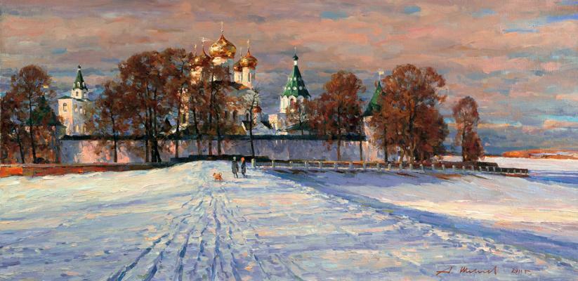 Alexander Victorovich Shevelyov. Ipatiev monastery.Oil on canvas 55,1 # 110,3 cm 2011