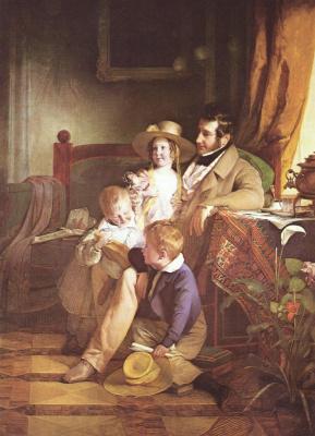 Фридрих фон Амерлинг. Рудольф фон Эртхабер с детьми