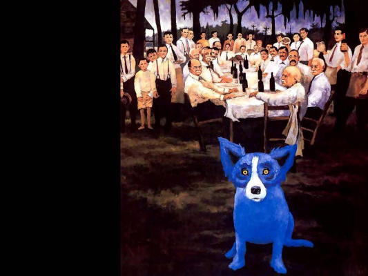 George Rodrigue. Blue собака023