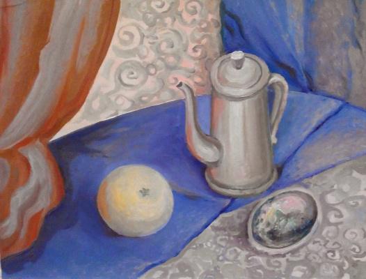 Olga Gennadievna Kravtsova-Motspan. Still life with shell.