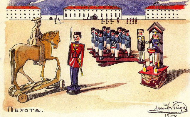 Alexander Nikolaevich Benoit. Infantry
