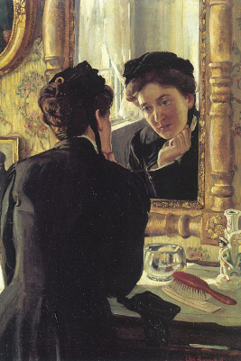 Ethel Penneville Brown Leach. The reflection in the mirror