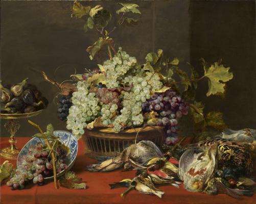 Франс Снейдерс. Натюрморт с виноградом