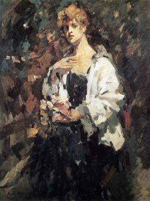 Konstantin Korovin. Portrait Of Z. N. Pepper