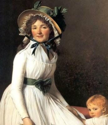 Жак-Луи Давид. Портрет мадам Эмилии Серизиат с сыном. Фрагмент