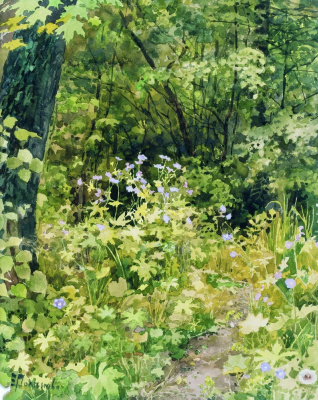 Elena Dmitrievna Polenova. The old garden. Thickets