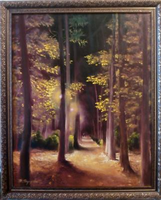 Tatyana Ivanovna Terekhova. Night. Autumn alley.