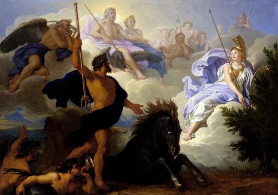 Рене-Антуан Уасс. Спор между Минервой и Нептуном о наименовании Афин