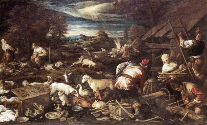 Jacopo da Ponte Bassano. Victims Of Noah
