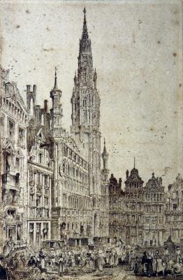 John Ruskin. City Hall, Brussels